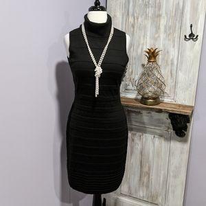 Calvin Klein black sleeveless bodycon dress